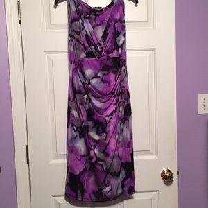 American Living purple/black/gray dress